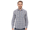 DKNY Jeans Long Sleeve Roll Tab Degradee Check Shirt (Fjord Blue)