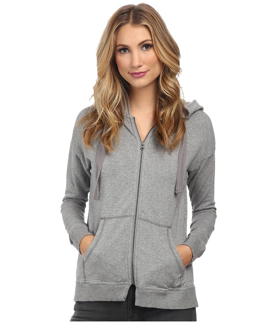 Mod-o-doc - Cotton Modal Fleece Boxy Drop Shoulder Zip Jacket (Granite Heather) Women