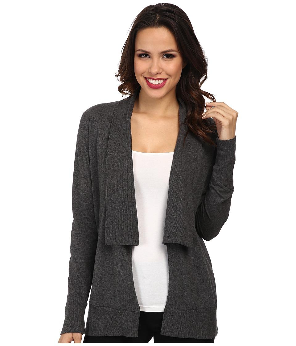 Mod-o-doc - Classic Jersey Shawl Collar Cardigan (Midnight Heather) Women