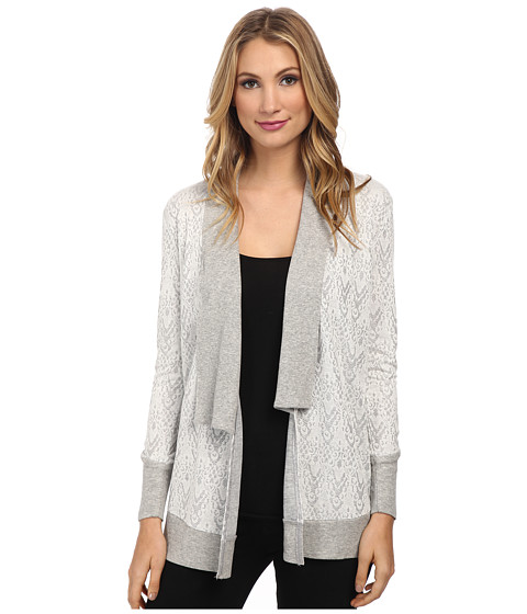 Mod-o-doc - Shawl Collar Cardigan (Grey) Women's Sweater