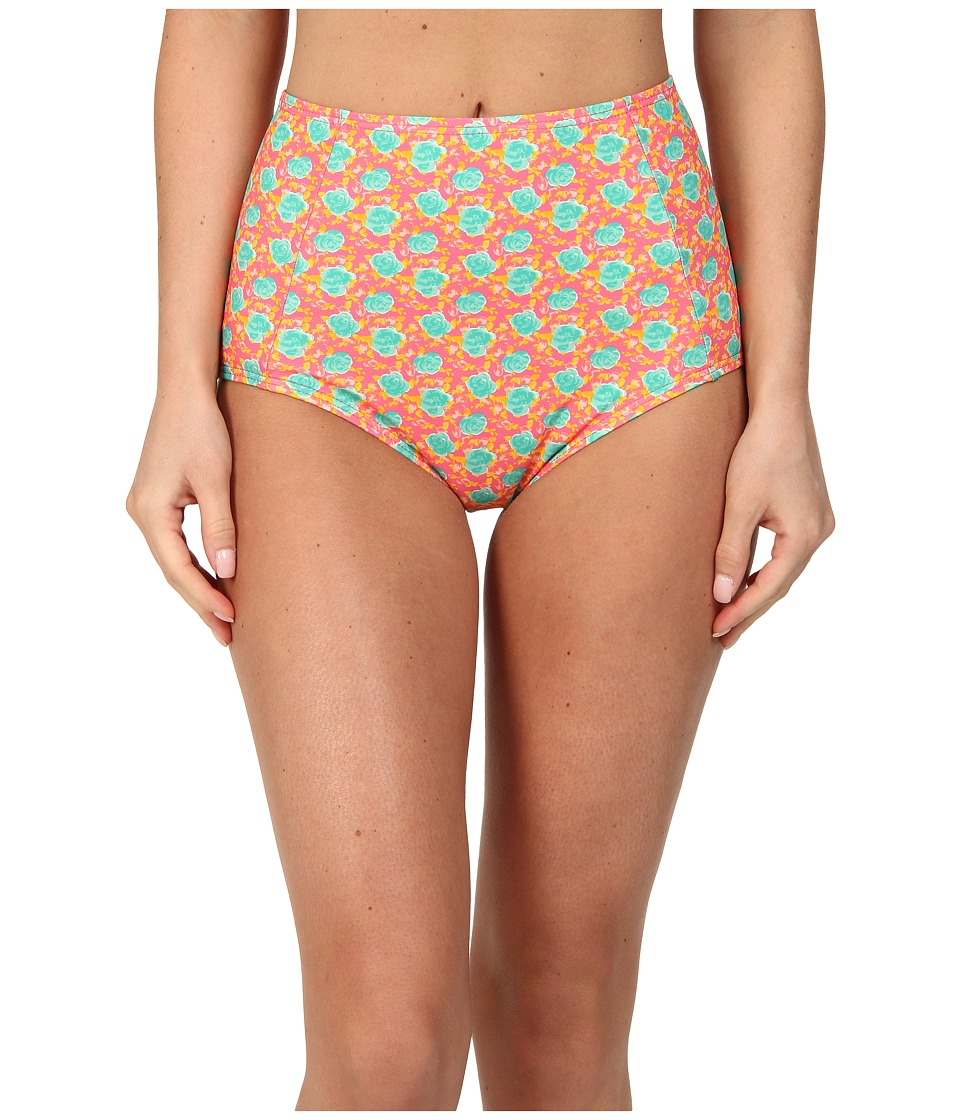 Marc by Marc Jacobs - Mini Jerrie Rose Charlotte High Waist Bottom (Pretty Bright Pink Multi) Women's Swimwear