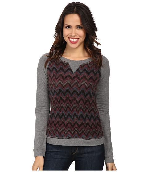 Mod-o-doc - Chevron Sweater Stripe Raglan Sleeve Scoopneck Pullover (Garland) Women