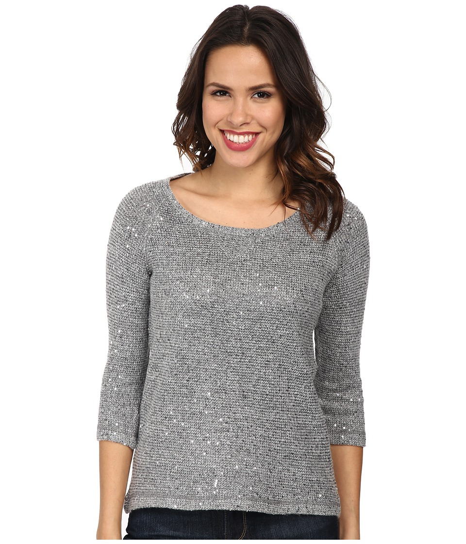 Mod-o-doc - Sequin Sweater Knit Pullover (Grey) Women
