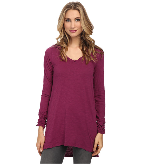 Mod-o-doc - Slub Jersey Pullover Hooded Tunic (Garland) Women's Blouse