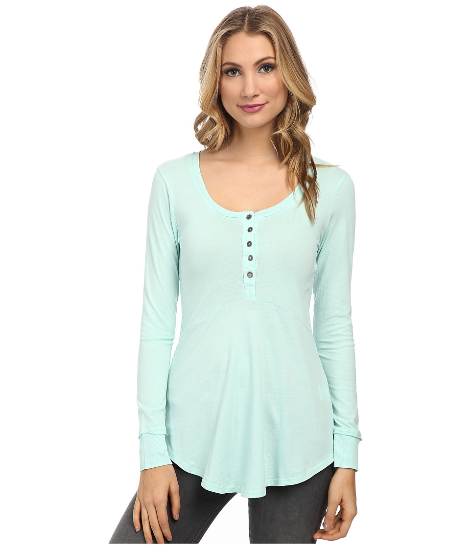 Mod-o-doc - Supreme Jersey Long Sleeve Henley Tunic (Wintergreen) Women's Long Sleeve Pullover
