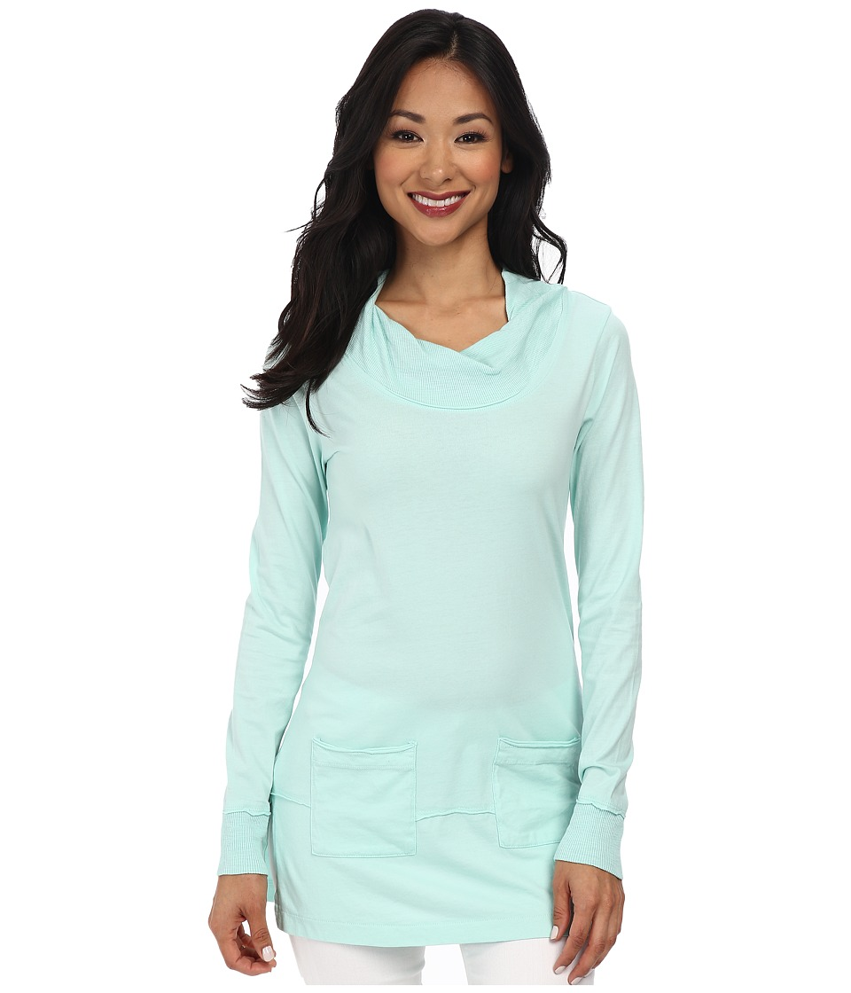 Mod-o-doc - Classic Jersey Twisted Collar Tunic (Wintergreen) Women's Long Sleeve Pullover