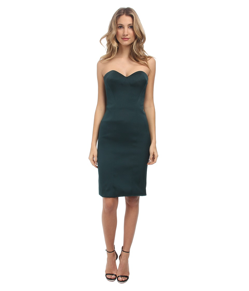 Zac Posen Stretch Duchess Dress (Dark Emerald) Women
