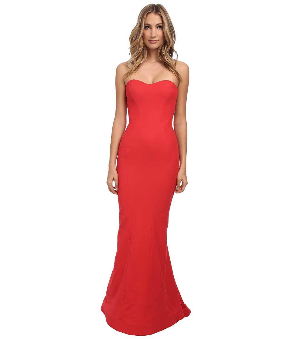 Zac Posen - Long Bondage Jersey Dress (Cayenne) Women's Dress