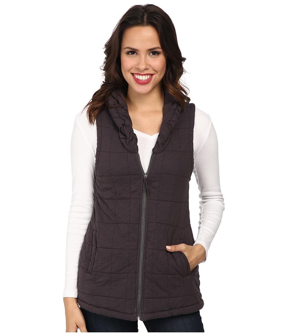 Mod-o-doc - Slub Jersey Zip Puffer Vest (Cinder) Women