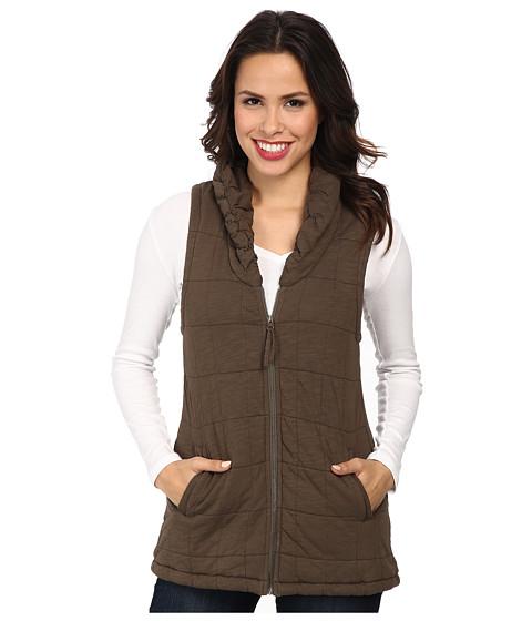 Mod-o-doc - Slub Jersey Zip Puffer Vest (Suede) Women