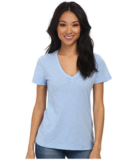 Mod-o-doc - Slub Jersey S/S V-Neck Tee (Hyacinth) Women's T Shirt