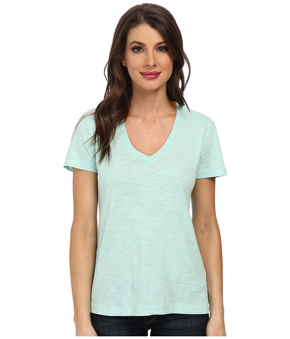 Mod-o-doc - Slub Jersey S/S V-Neck Tee (Wintergreen) Women's T Shirt