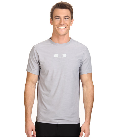 Oakley - Melange S/S Rashguard (Crystal Grey) Men's Swimwear