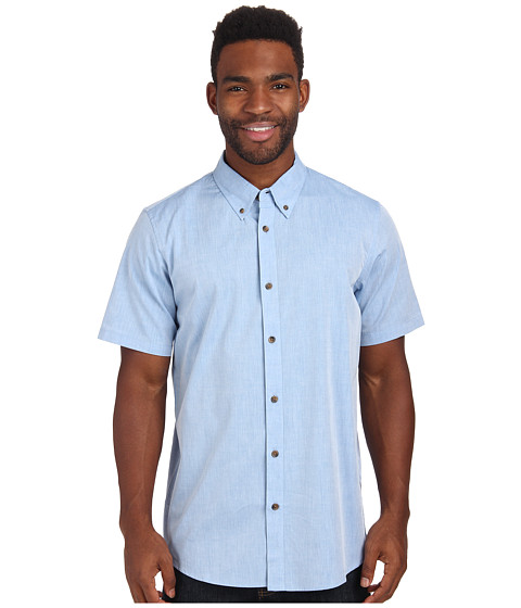 Oakley - Buzz S/S Woven (Electric Blue) Men's Short Sleeve Button Up