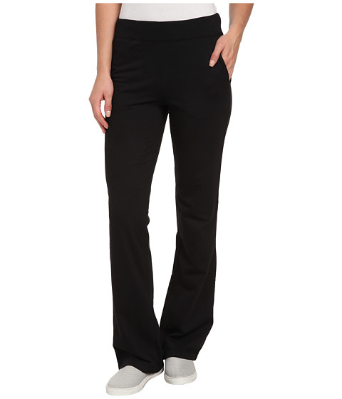 Mod-o-doc - Lightweight French Terry Boot Cut Pant (Black) Women's Casual Pants
