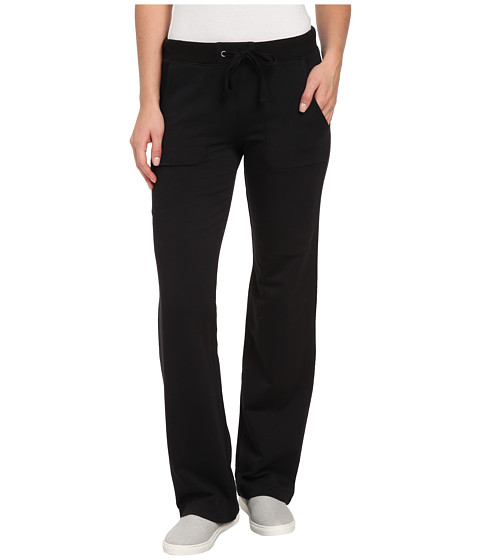 Mod-o-doc - Cotton Modal Fleece Straight Leg Pant (Black) Women's Casual Pants