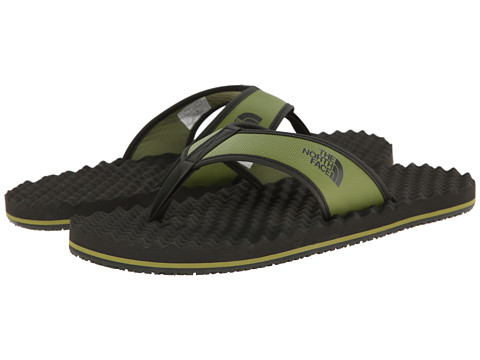 The North Face - Base Camp Leather Flip-Flop (Woodbine Green/Black Ink Green) Men