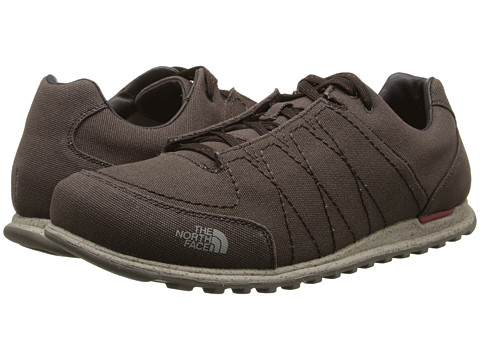 The North Face - Hedgehog Mountain Sneaker Canvas (Coffee Brown/Rosewood Red) Men's Shoes