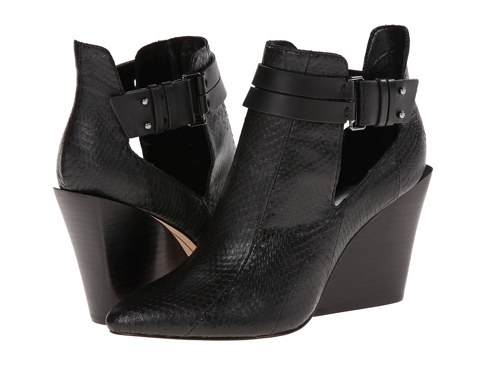 10 Crosby Derek Lam - Vera (Black Matter Snake) Women's Shoes