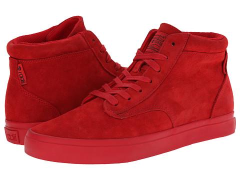 radii Footwear - Basic (Red/Red Wolverine Suede) Men's Shoes