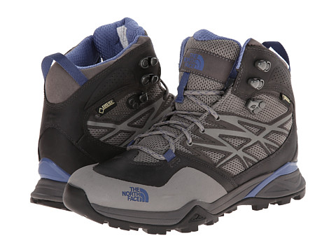 The North Face - Hedgehog Hike Mid GTX (Dark Gull Grey/Marlin Blue) Women's Hiking Boots