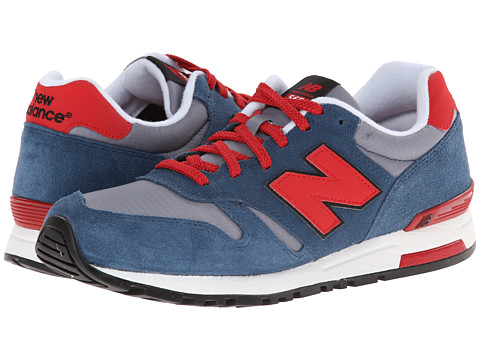 New Balance Classics - ML565 (Stone Blue/Velocity Red) Men's Classic Shoes