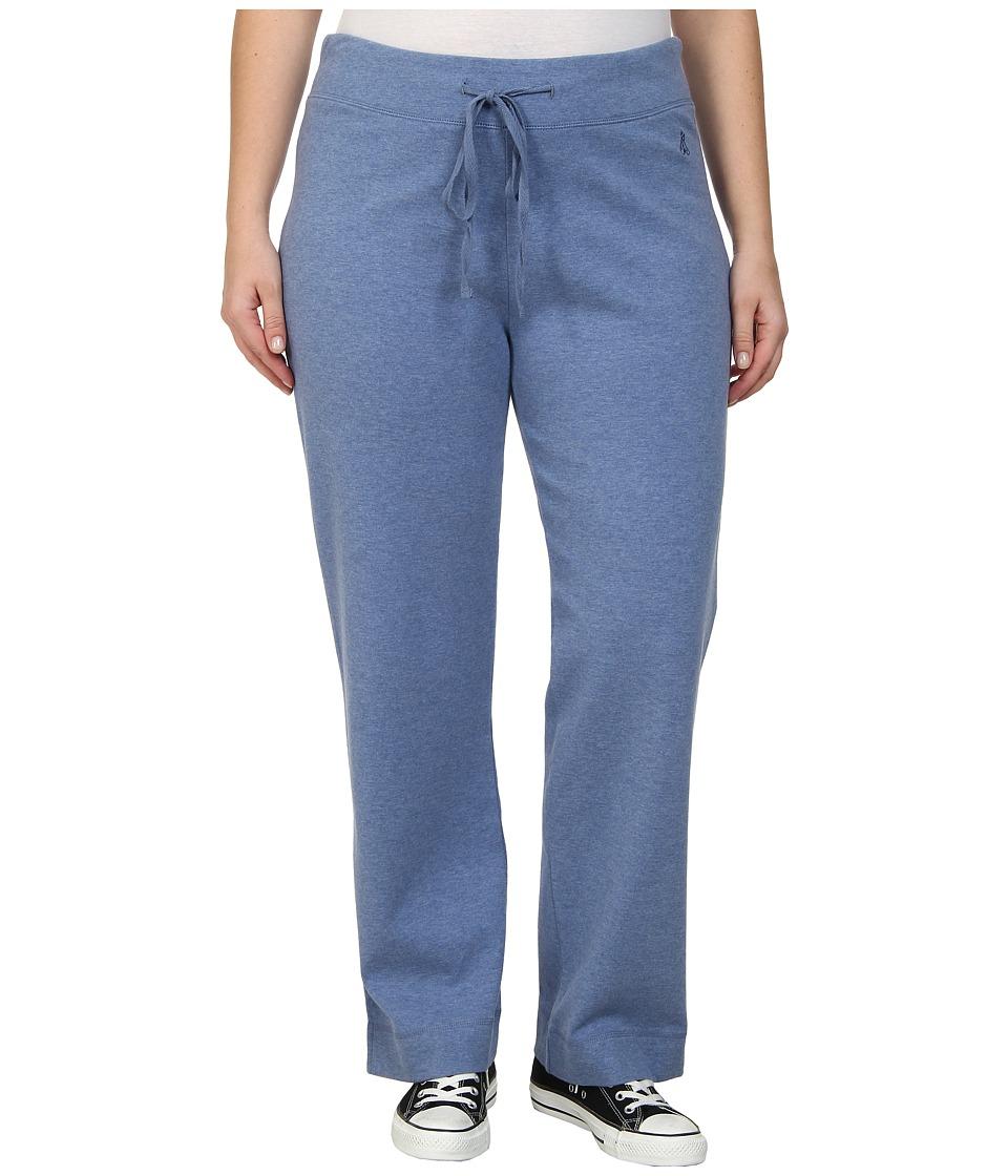 Pendleton - Plus Size Chehalem Knit Pant (Dutch Blue Heather/Soft Grey Heather) Women's Casual Pants