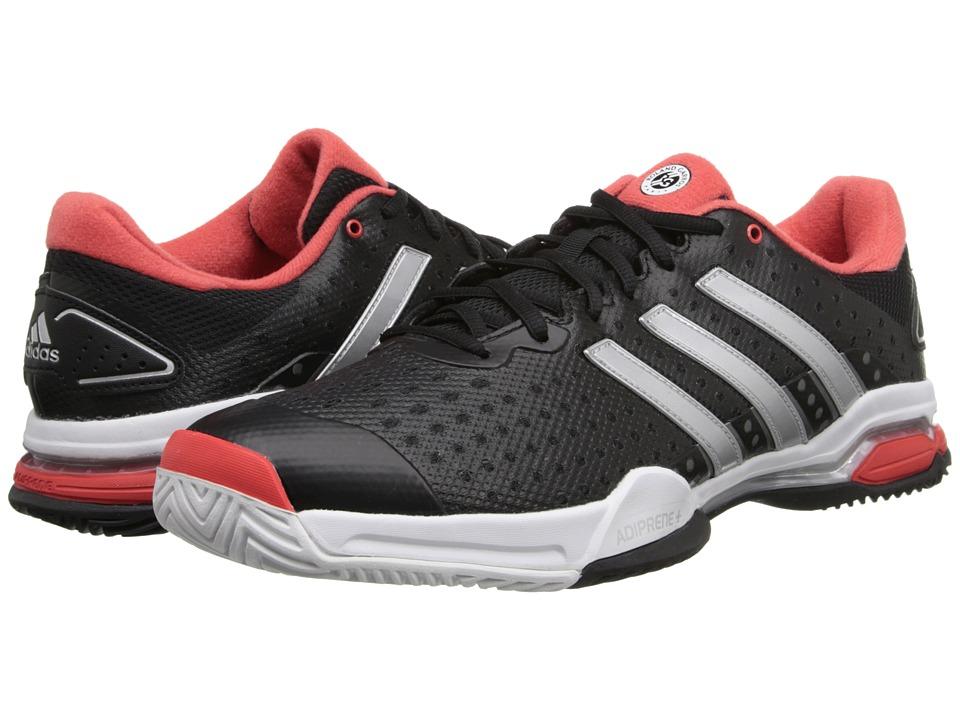 adidas - Barricade Team 4 (Black/Silver Metallic/Bright Red) Men's Tennis Shoes