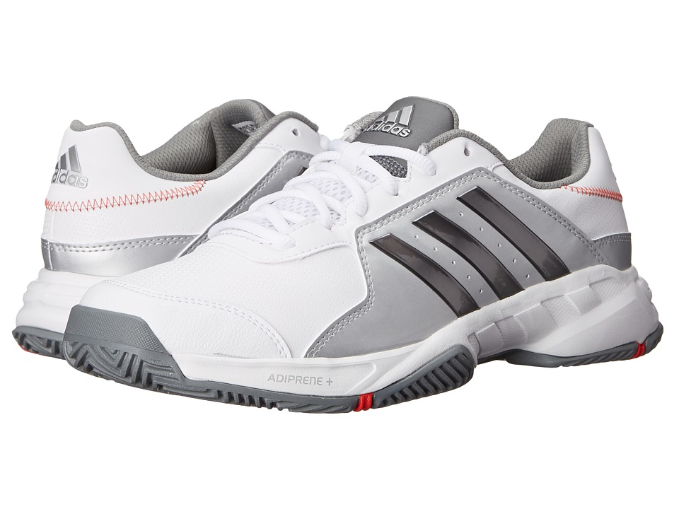 adidas - Barricade Court (White/Iron Metallic/Silver Metallic) Men's Tennis Shoes
