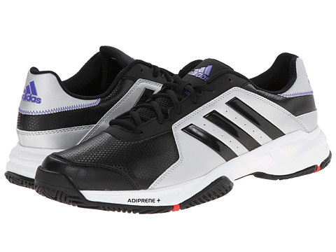 adidas - Barricade Court (Black/Silver Metallic) Men's Tennis Shoes