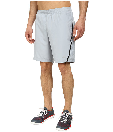 adidas - Money 9 Running Short (Mid Grey/Black) Men
