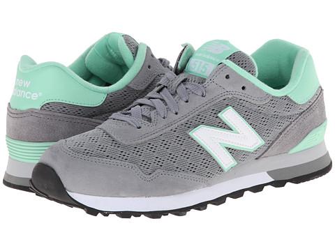 New Balance Classics - WL515 (Grey/Green) Women's Classic Shoes