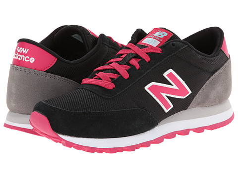 New Balance Classics - WL501 (Black/Popsicle) Women's Classic Shoes