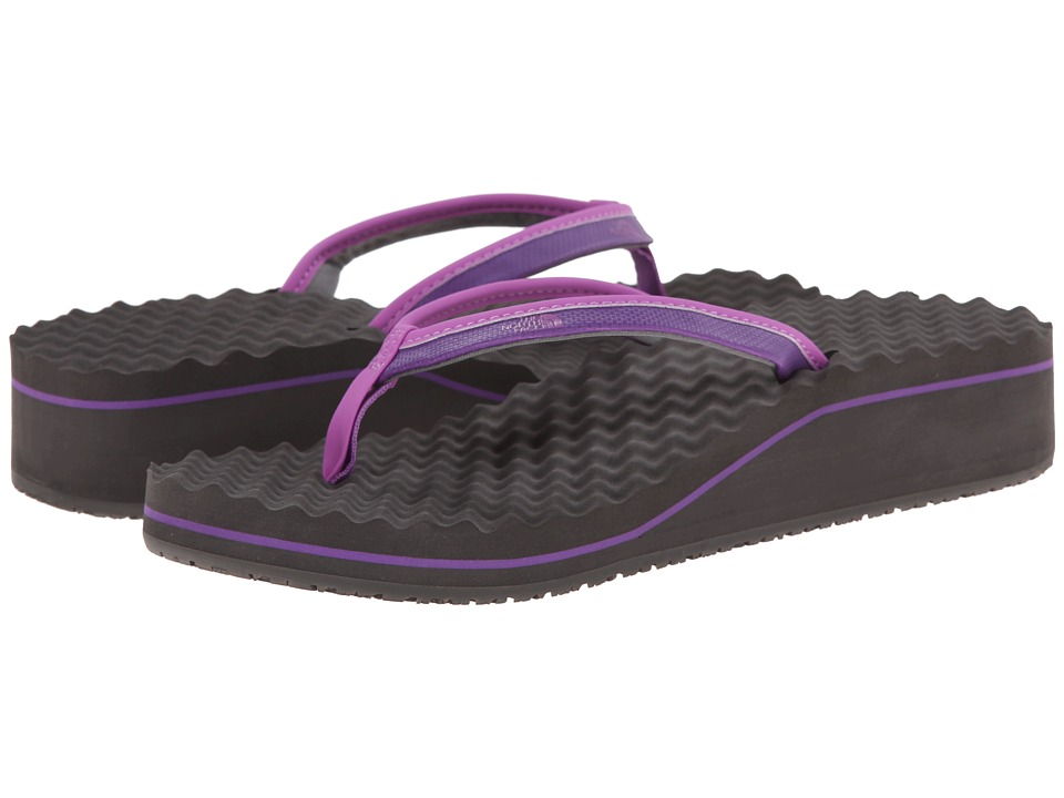 The North Face - Base Camp Wedge II (Imperial Purple/Dark Gull Grey) Women's Toe Open Shoes