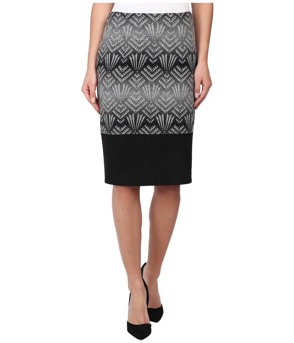Pendleton - Tucson Trimmed Skirt (Black/Grey Jacquard) Women