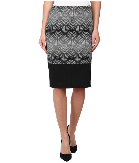 Pendleton - Tucson Trimmed Skirt (Black/Grey Jacquard) Women's Skirt
