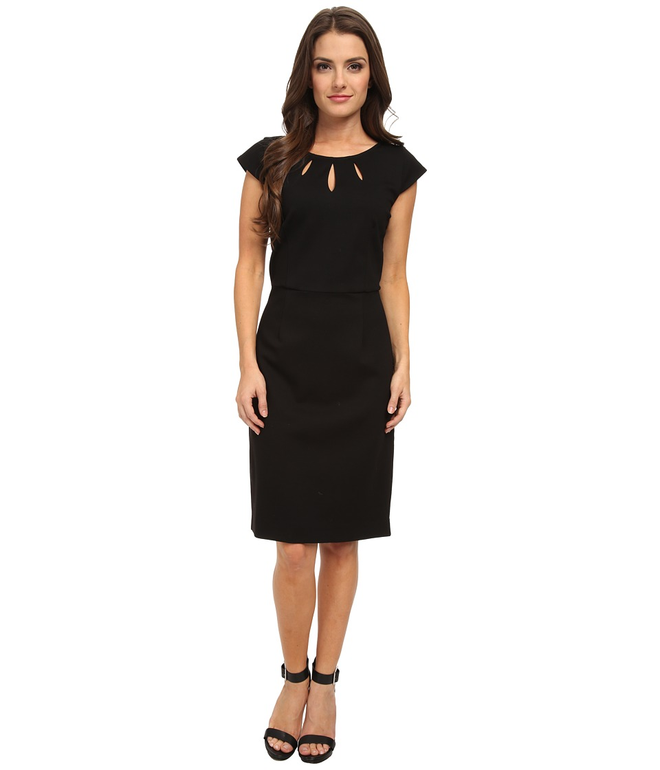 Pendleton - Petite Juliette Dress (Black Ponte) Women