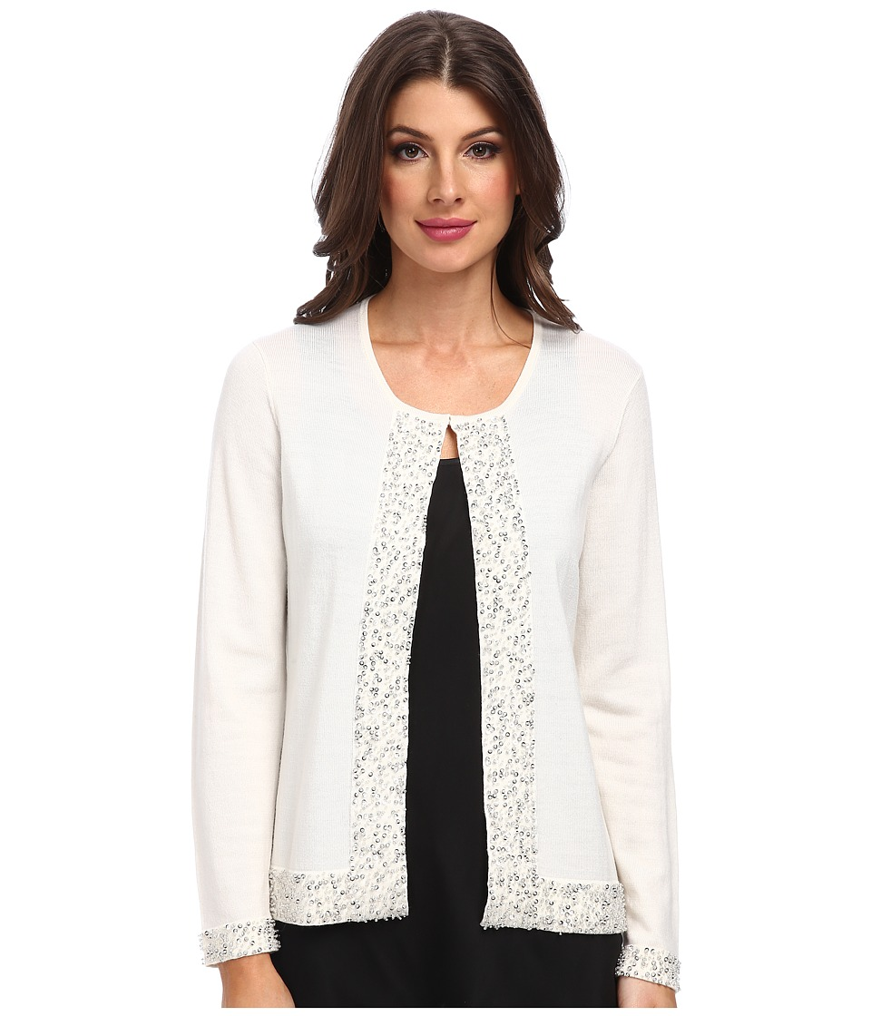 Pendleton - Bejeweled Cardigan (Ivory) Women's Sweater