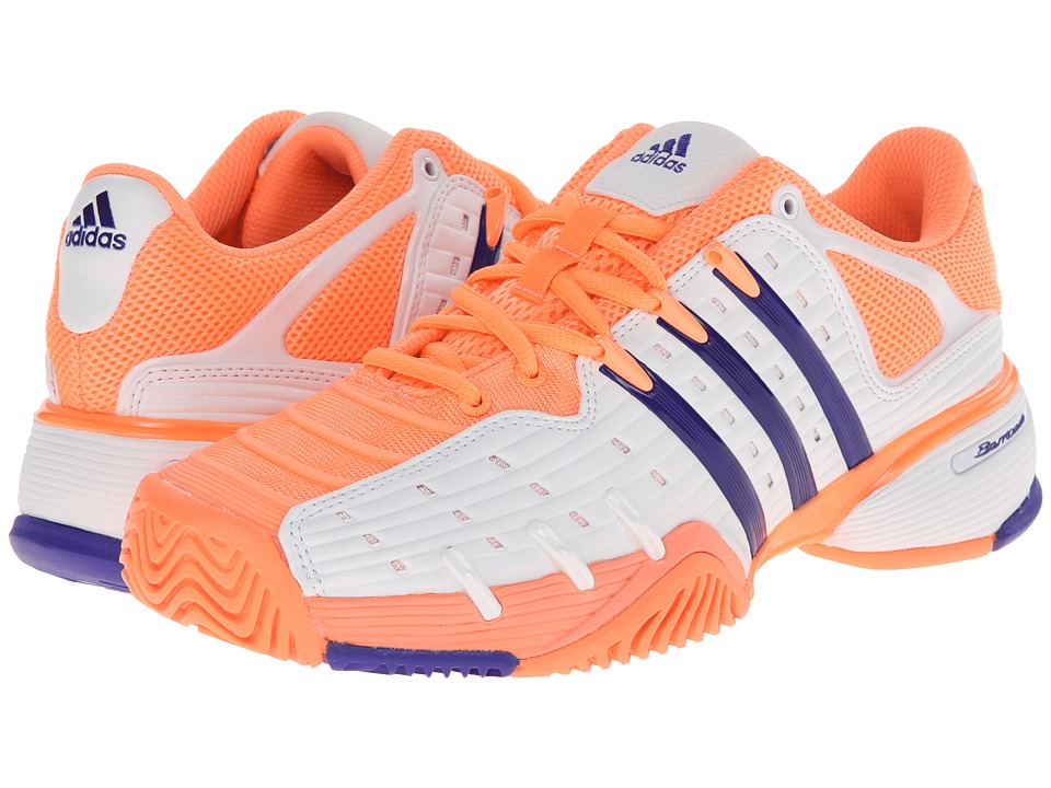 adidas - Barricade V Classic (Light Flash Orange/Night Flash/White) Women