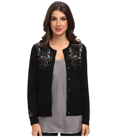 Pendleton - Starshine Cardigan (Black Multi) Women's Long Sleeve Button Up