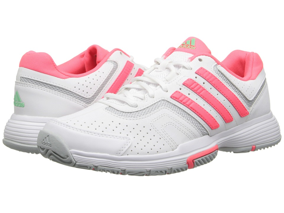 adidas - Barricade Court (White/Flash Red/Clear Onix) Women's Tennis Shoes