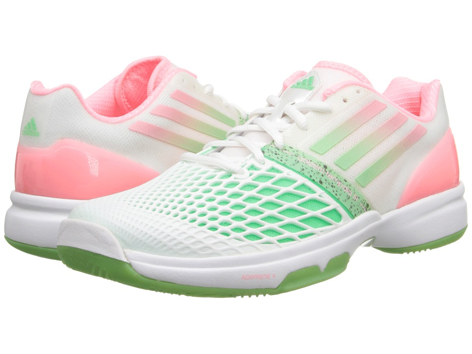 adidas - CC Adizero Tempaia III (White/Light Flash Red/Light Flash Green) Women's Tennis Shoes
