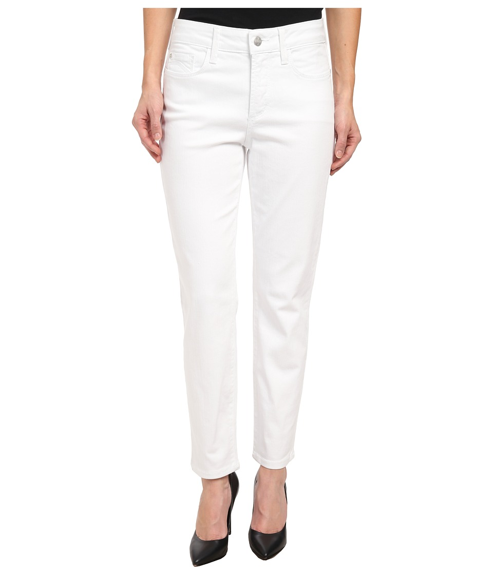 NYDJ Petite - Petite Clarissa Skinny Ankle Fine Line Twill in Optic White (Optic White) Women's Casual Pants