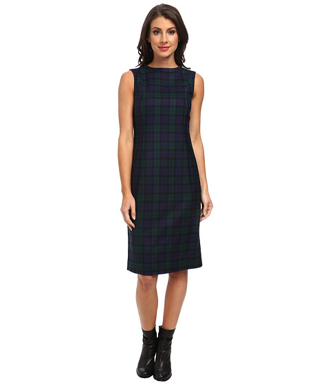 Pendleton - Simone Sheath Dress (Black Watch Worsted Tartan) Women