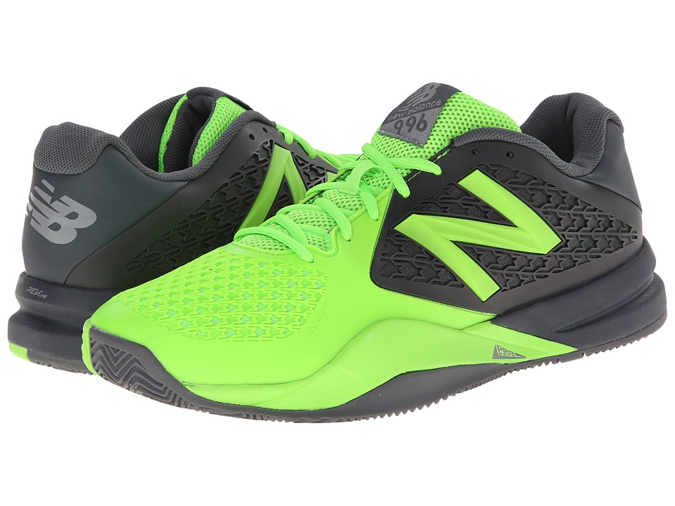 New Balance - MC996v2 (Grey/Green) Men's Tennis Shoes