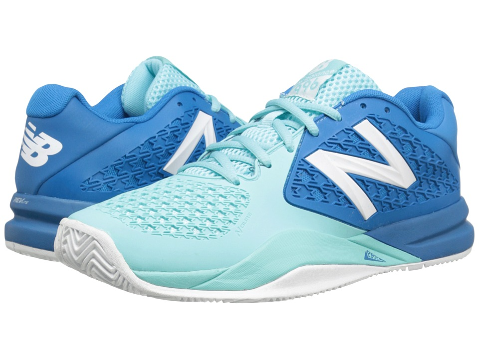 New Balance - WC996v2 (Light Blue/Blue) Women's Tennis Shoes