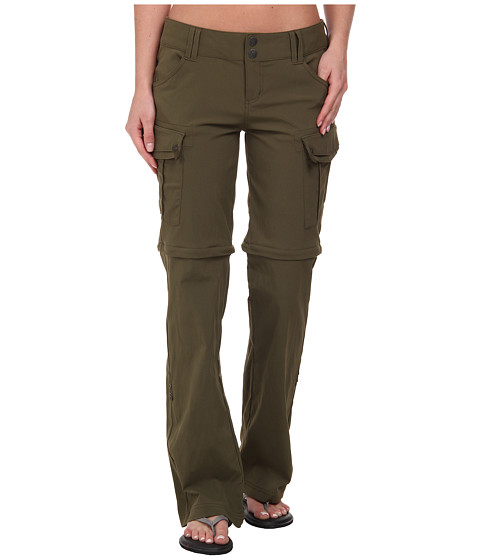 Prana - Sage Convertible Pant (Cargo Green) Women's Casual Pants