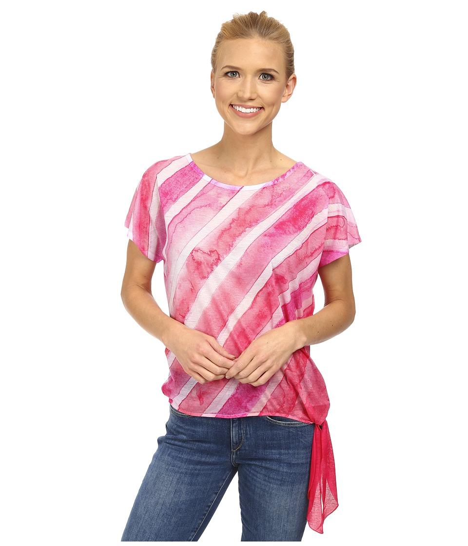 Prana - Flora Top (Pinkberry) Women's Short Sleeve Pullover