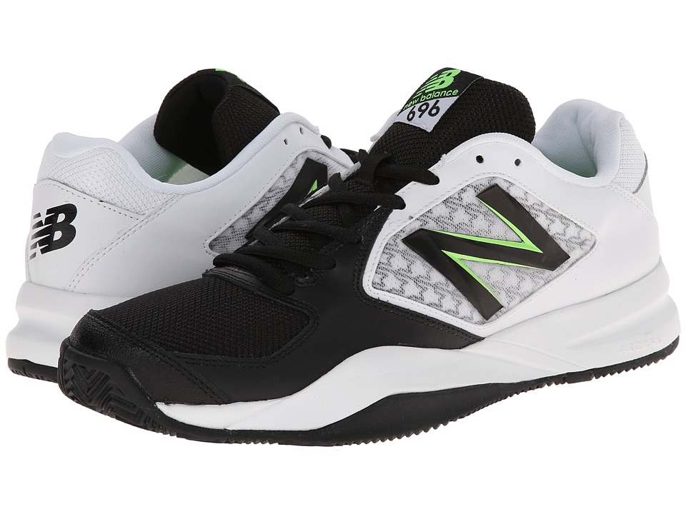 New Balance - MC696v2 (Black/Green) Men's Tennis Shoes