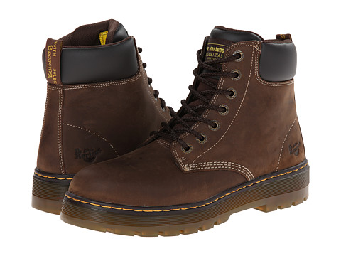 Dr. Martens Work - Winch St. (Dark Brown Wyoming) Men's Work Boots